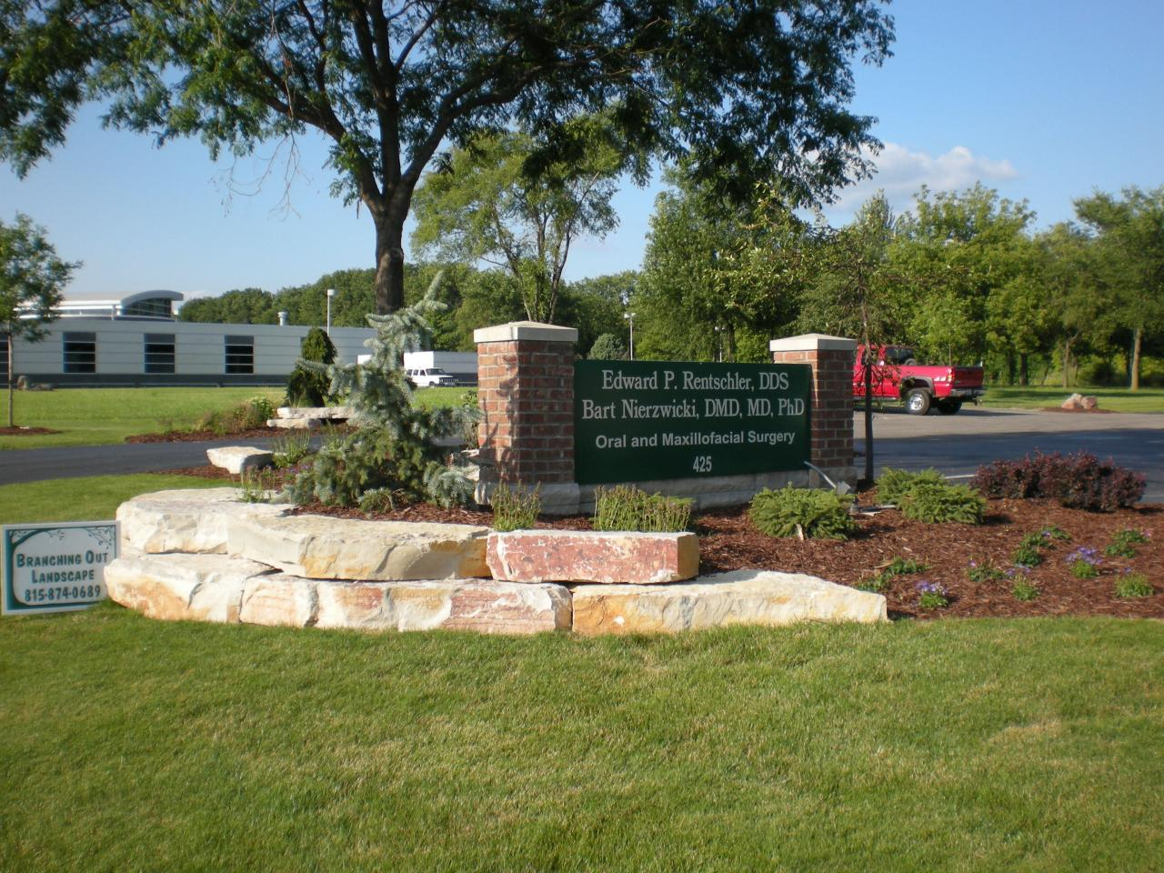... Chilton Outcropping, Commercial Property in Rockford, IL ... - Branching Out - Retaining Walls